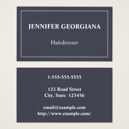 Elegant & Basic Hairdresser Business Card