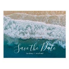 Elegant Beach Blue Ocean Save the Date