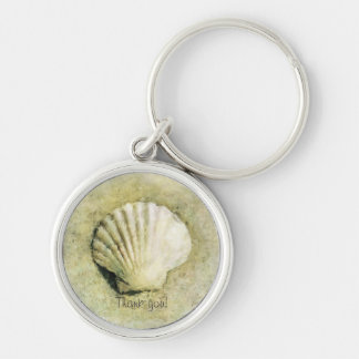 Elegant Beach Seashell Key Ring