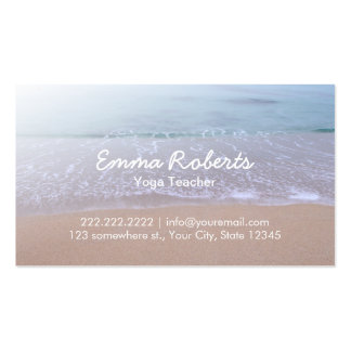 Elegant Beach Theme Yoga Pack Of Standard Business Cards