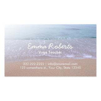 Elegant Beach Theme Yoga Pack Of Standard Business Cards