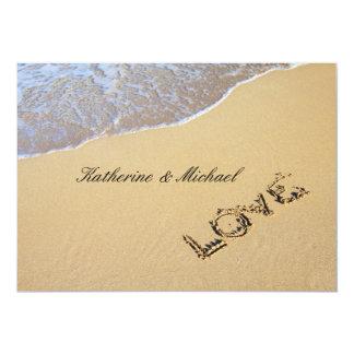 "Elegant Beach Wedding Invitation 5"" X 7"" Invitation Card"