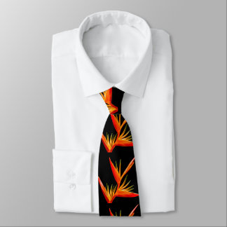 Elegant, beautiful, Bird of Paradise flower Tie