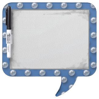 Elegant Beautiful Blue Pearls Dry Erase Board