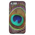 Elegant Beautiful Jewel Coloured Peacock Feathers Tough iPhone 6 Case