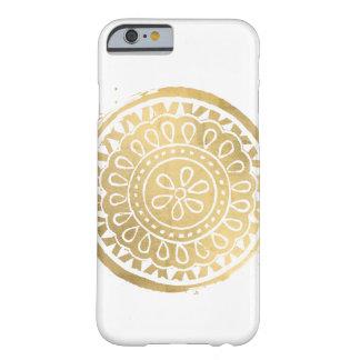 Elegant Beauty Boho Chic Faux Gold Mandala Barely There iPhone 6 Case