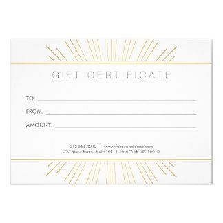 Elegant Beauty Gold Sunburst Salon Gift Card