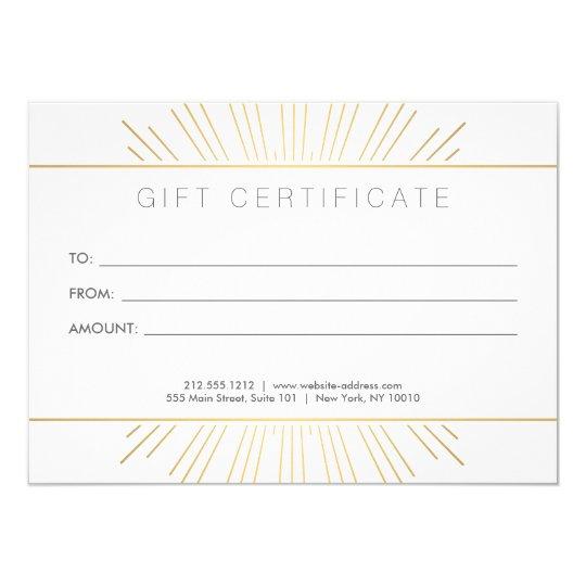 Elegant Beauty Gold Sunburst Salon Gift Card
