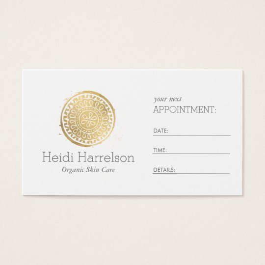 Elegant Beauty Mandala Logo Faux Gold Appointment Business