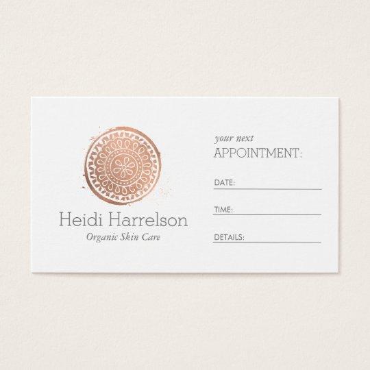 Elegant Beauty Mandala Logo Rose Gold Appointment Business