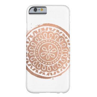 Elegant Beauty Mandala Logo Rose Gold Barely There iPhone 6 Case