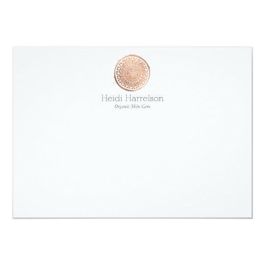 Elegant Beauty Mandala Logo Rose Gold Flat Note
