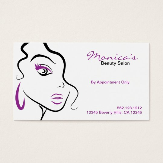 Elegant Beauty Salon with Appointment Date Business Card