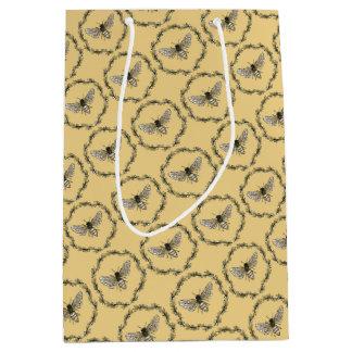 Elegant bee print gift bag
