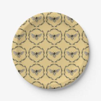 Elegant Bee Print Plates
