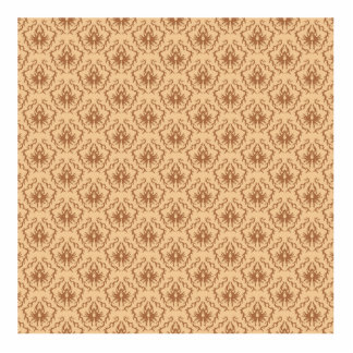 Elegant beige and brown damask pattern. acrylic cut outs