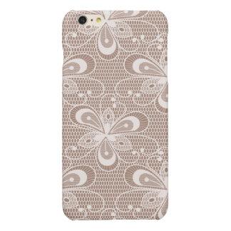 Elegant Beige Floral Lace Pattern iPhone 6 Plus Case