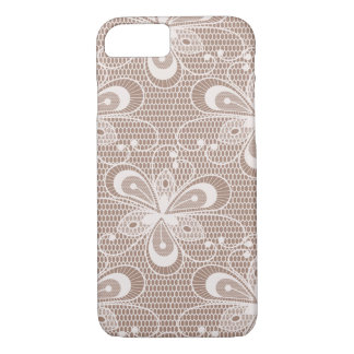 Elegant Beige Floral Lace Pattern iPhone 8/7 Case
