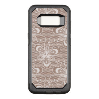 Elegant Beige Floral Lace Pattern OtterBox Commuter Samsung Galaxy S8 Case