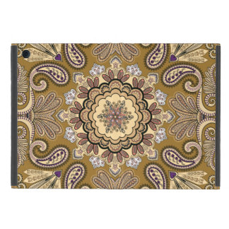 Elegant beige Paisley Pattern Covers For iPad Mini