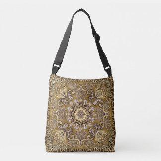 Elegant beige Paisley Pattern Crossbody Bag