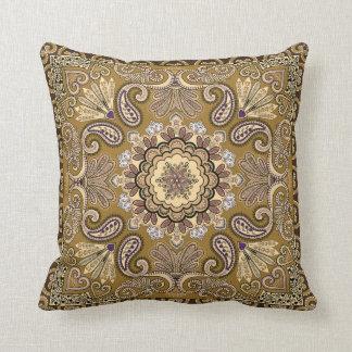 Elegant beige Paisley Pattern Cushion