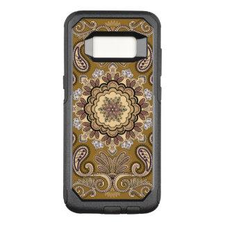 Elegant beige Paisley Pattern OtterBox Commuter Samsung Galaxy S8 Case