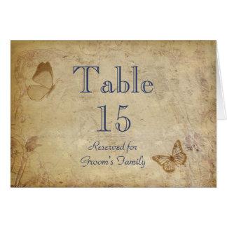 Elegant Beige Vintage Table Seating Name Card
