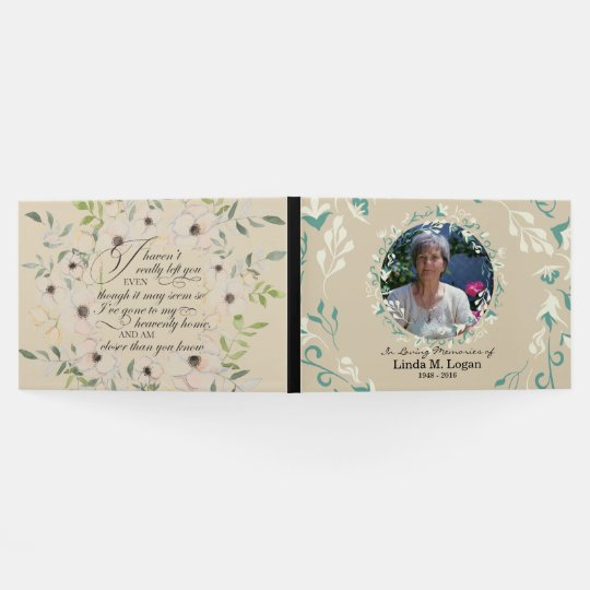 Elegant beige white painted floral wreath funeral guest