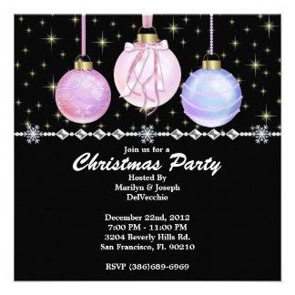 Elegant Bells and Stars CUTE Christmas Holiday Par Invitations