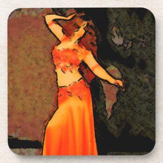 Elegant Bellydance Coaster Set of 6