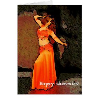 Elegant Bellydancer Greeting Card ~ Happy Shimmies