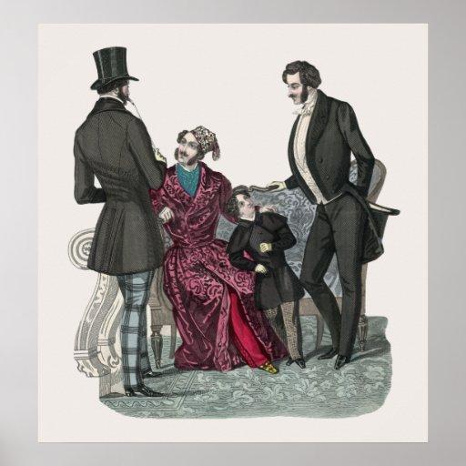 Elegant Biedermeier Gentlemen Poster