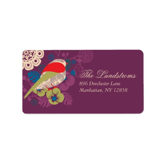 Elegant Bird In Paradise Mailing Label