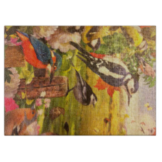Elegant Bird puzzle chopping board