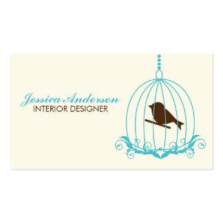 Elegant Birdcage Business Cards