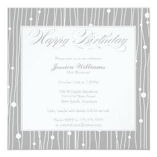 Elegant Birthday Party 13 Cm X 13 Cm Square Invitation Card
