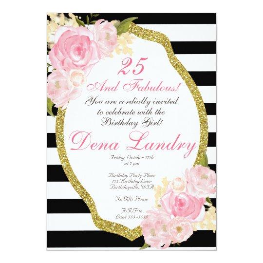 Elegant Birthday Party Invitation for any age