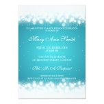 Elegant Birthday Party Magic Sparkle Turquoise Custom Announcements