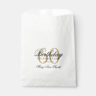 Elegant Birthday Thank You Favour Bags