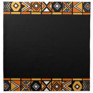 Elegant Black African pattern napkins