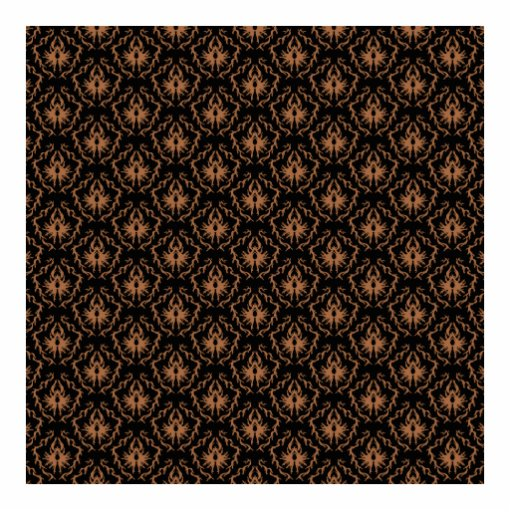 Elegant black and brown damask pattern. photo cut outs