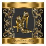 Elegant Black and Gold 50th Birthday Party Invitations