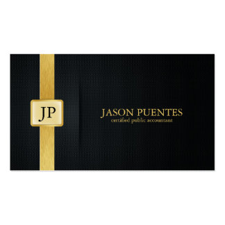 Elegant Black and Gold Accounting Business Card Template