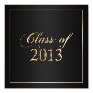 Elegant Black and Gold Class of 2013 Invitation