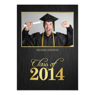 Elegant black and gold Class of 2014 Graduation Card