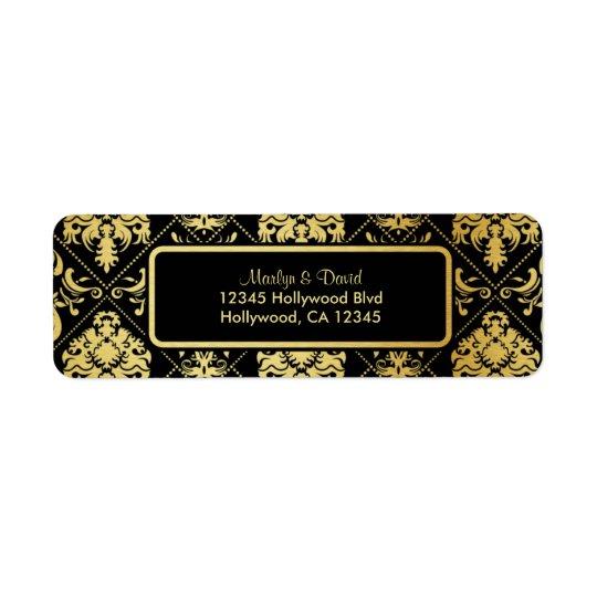 Elegant Black and Gold Damask