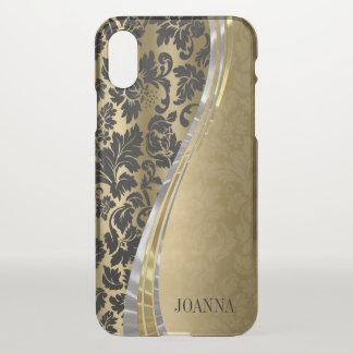 Elegant Black And Gold Damasks iPhone X Case