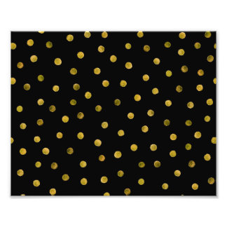 Elegant Black And Gold Foil Confetti Dots Photograph