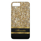 Elegant Black and Gold Glitter iPhone 8 Plus/7 Plus Case